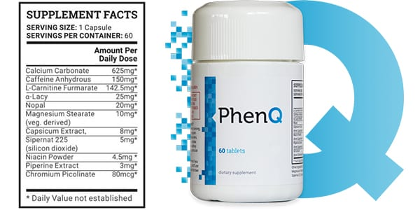 PhenQ Supplement Facts